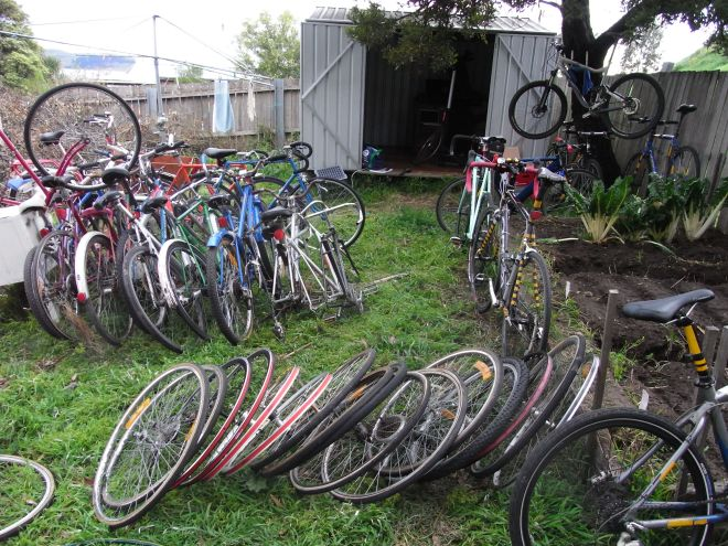 Backyard of Bicycles