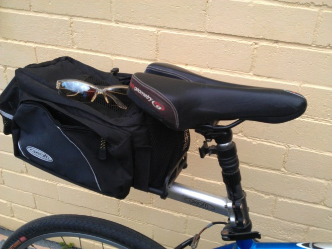 seatpost rack and bag